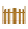 wooden rustic fence vector image vector image