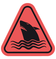 Danger shark zone vector image