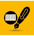 education opened book pen writing vector image