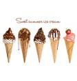hand drawn delicious ice cream vector image
