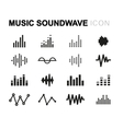 line music soundwave icons set vector image