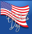 a banner for george washington birthday vector image vector image