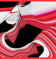 abstract modern background with wavy vector image vector image