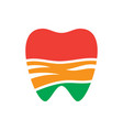 abstract tooth dental logo vector image