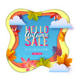 autumn big sale typography poster with autumn vector image vector image