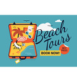 Beach Tour Promotional Poster vector image vector image