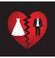 bride groom vector image vector image