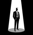 businessman in formal suit standing vector image