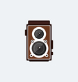 Camera retro vintage style flat design vector image