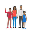 cartoon characters people national family african vector image