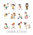 Children activities eps10 format vector image vector image