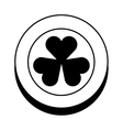 coin with Saint patricks clover icon vector image