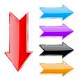 colored arrows vector image vector image