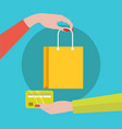 credit card payment for item shopping concept vector image vector image