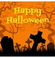 creepy cemetery vector image vector image