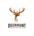deer hunt logo template elegant deer head logo vector image