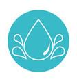 drops water fresh nature liquid blue block style vector image