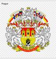 emblem of city of czech republic vector image