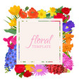 floral template for flower shops or invitation vector image vector image