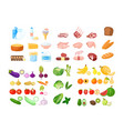 food cartoon collection vector image vector image
