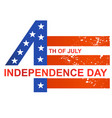 fourth of july independence day united stated flag vector image vector image