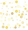 golden bitcoin coin gold confetti crypto currency vector image