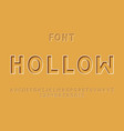 hollow font alphabet vector image vector image
