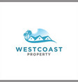 home and property logo design idea vector image vector image