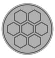 honeycombs silver coin vector image vector image