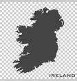 icon map ireland on transparent background vector image vector image