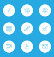 icons line style set with paper garland gift vector image