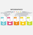 infographic design template banners with 5 options