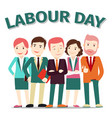 labour day poster people on vector image