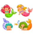 little mermaids vector image vector image