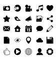 Media Social Icons vector image vector image