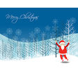 Merry christmas with Santa Claus vector image vector image
