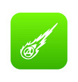 meteorite icon digital green vector image