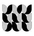 minimal geometric pattern flower shape and line vector image