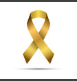modern golden ribbon isolated on white background vector image