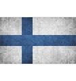 Mosaic Flag of Finland vector image