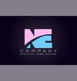 ne alphabet letter join joined letter logo design vector image vector image