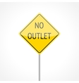 No Outlet Sign vector image vector image
