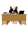 old businesswoman business grandmother laptop and vector image vector image
