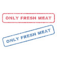 only fresh meat textile stamps vector image vector image