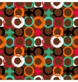 Pattern with painted circles and crosses vector image vector image