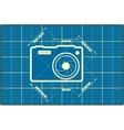 Photo camera icon Main parameters vector image vector image