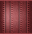 red jeans texture EPS 10 vector image vector image