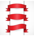 Red ribbon simple set Arch flag shapes vector image vector image