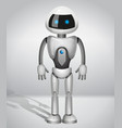 robot with screen indicator vector image