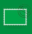 saint patrick postage stamp vector image